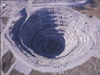 Another BHP hole: Panda Pit, Ekati diamond mine, Northwest Territories